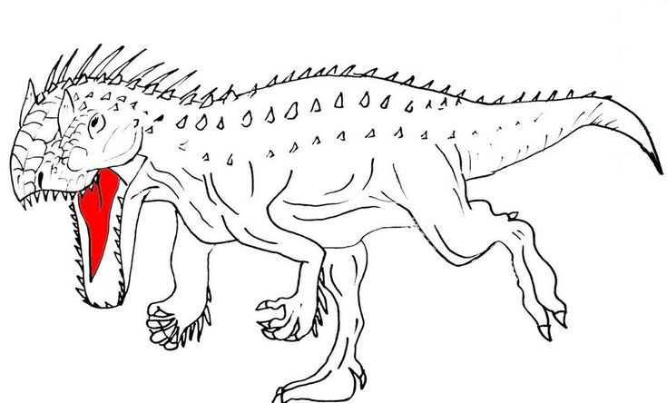 10 best  indominus rex coloring pages images on pinterest