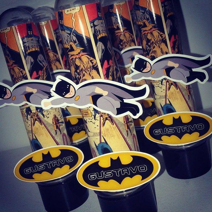 Tubete Batman 13 cm <br>Fazemos em qualquer festa