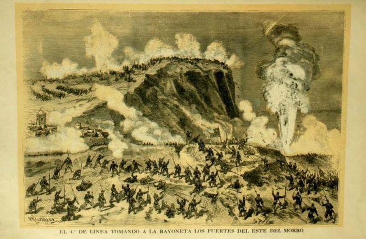 El 4to. De Línea se Toma el Morro de Arica, a punta de bayoneta y valor.