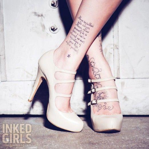 #Inked #Girl Jessica | #InkedMagazine #foottattoo #heels #InkedGirls #InkedMagazine #sexy #shoes