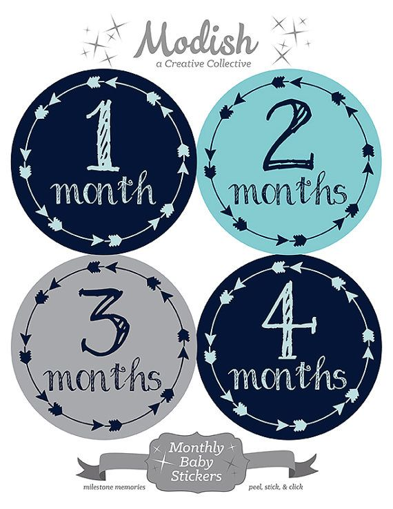 FREE GIFT Tribal Arrow Month Stickers Baby Month Stickers