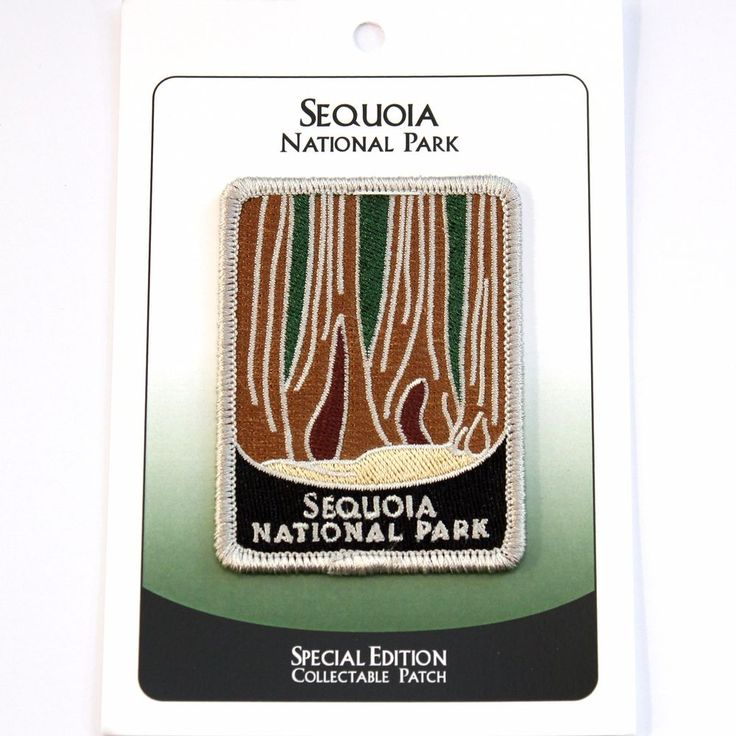 Official Sequoia National Park Souvenir Patch Traveler Series California