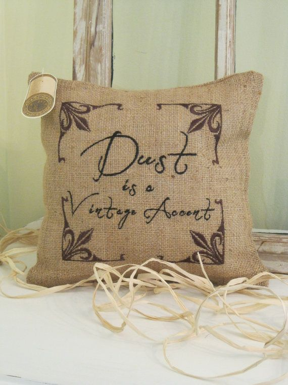 Dust is a Vintage Accent embroidered Pillow by BrambleWoodANDivy