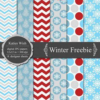 free digital paper - winter