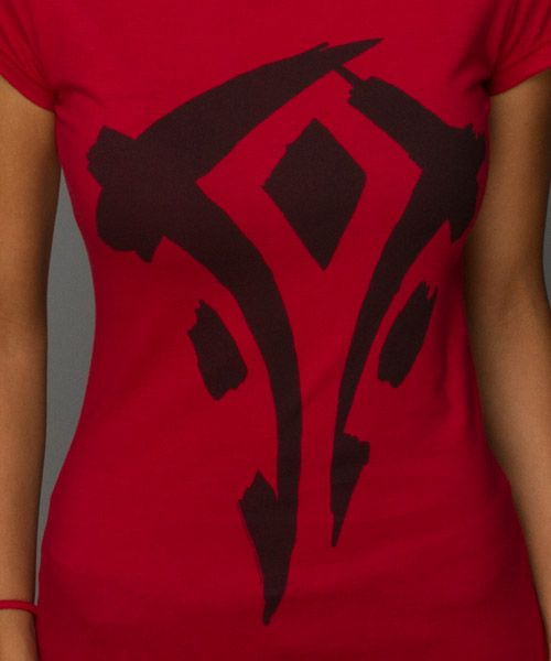 J!NX : World of Warcraft Mists of Pandaria Horde Faction Logo Women's Tee - size s..I own it :)