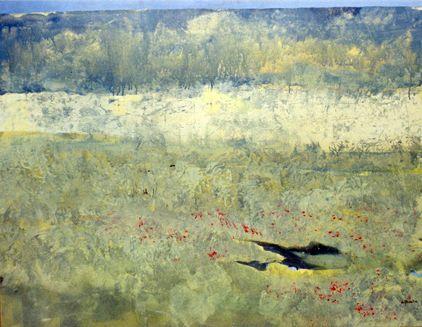 blue landscape. 50 x 50 cm. acrílico sobre tela. www.guillermo-moreno.com