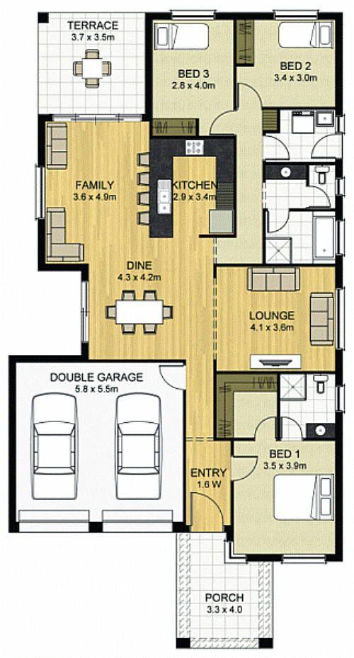 22 Inspirasi Denah Rumah 3 Kamar Denah Rumah Rumah Minimalis Rumah