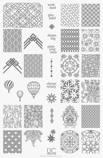 UberChic Beauty Nail Stamp Plates: Collection 7
