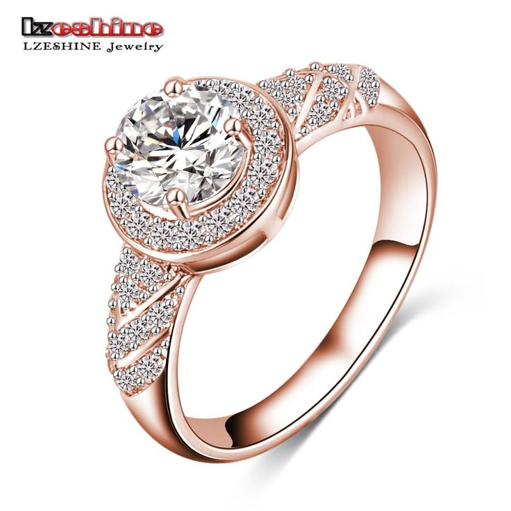 LZESHINE Perfect Ladies Gold / Silver Colored Zircon Ring //Price: $7.95 & FREE Shipping //     #fashion