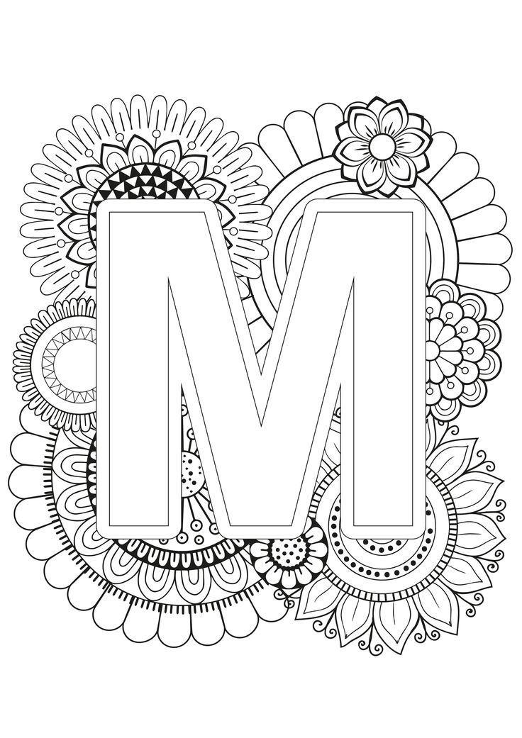 Mindfulness Coloring Page Alphabet Alphabet coloring