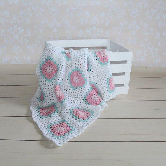 handmade crochet baby blanket crochet flower decor baby