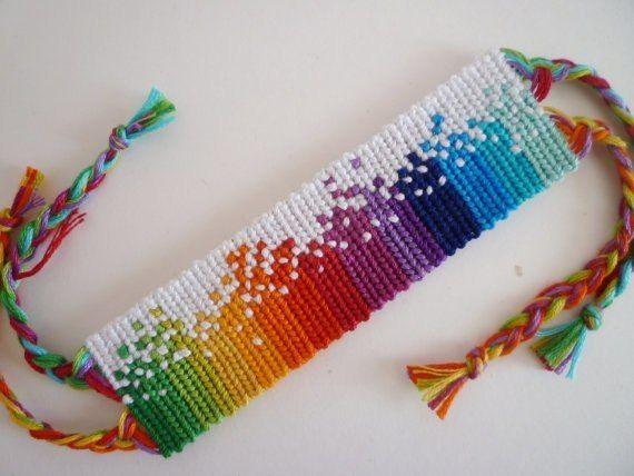 Прямое плетение фенечек из ниток мулине