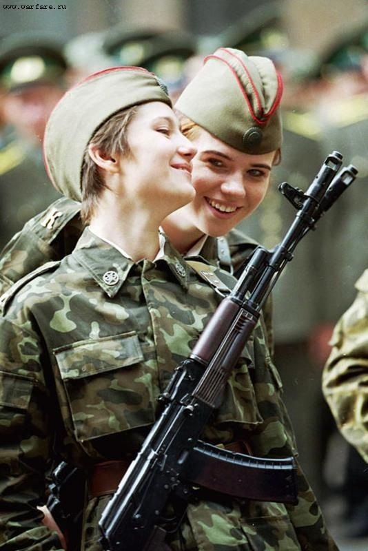 Russian  women soldiers