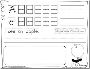 28 page *Free* student Handwriting packet