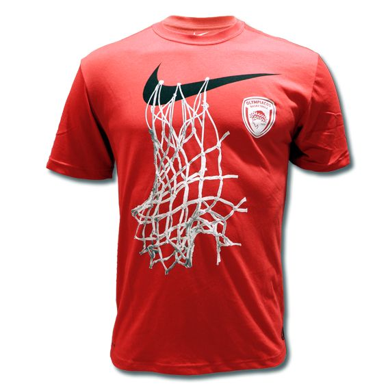 T-Shirt Nike Olympiacos BC The Swoosh Net Tee-RED