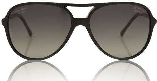 Chanel Black Aviator Polarised Sunglasses