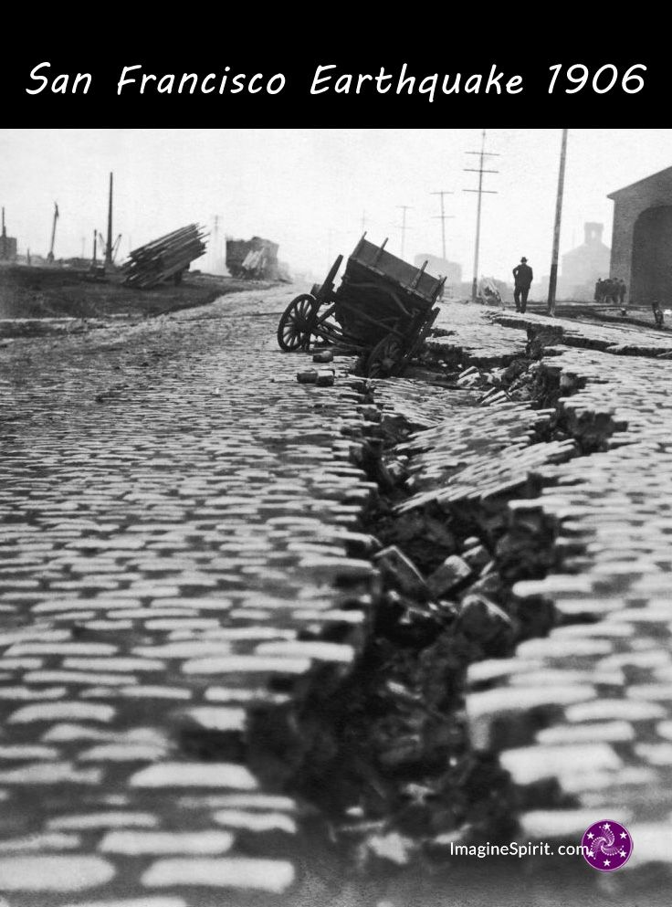 At 5:12 a.m. on April 18, 1906, the people of San Francisco were awakened by an earthquake that would devastate the city. The main temblor, having a 7.7–7.9 magnitude, lasted about one minute.