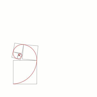 Questa regola è il modo migliore per ottenere delle immagini più evocative. Un misto di numeri e di forme naturali linee di Fibonacci