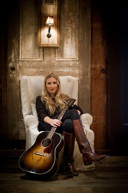 Photo Credit: Brennan Wesley. Friday night's musical guest, singer-songwriter Holly Williams.