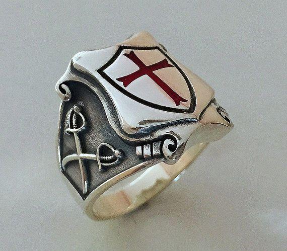 Caballeros Templarios MASÓNICOS tempelritter Cruz plata 925