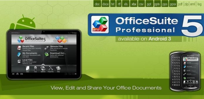 Latest version of OfficeSuite Pro 5 happen to be launched to Android Market. Create, view, edit and share Microsft Word, Stand out and Ms powerpoint files and accessories and examine PDF files in your Android based phone having a single complete feature-wealthy mobile offce solution.  >> For more info click the picture ♥