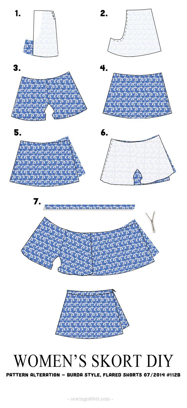 Women's Skort DIY - The Sewing Rabbit