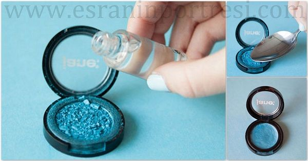 Kırılan göz farı, kırılan pudra veya allık gibi kırılan toz makyaj malzemeleri nasıl düzeltilir? Detaylar www.esraninportresi.com'da