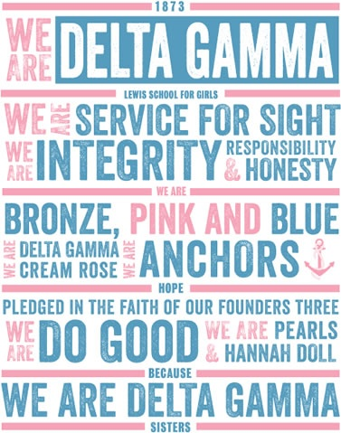 we are delta gamma... I wish I had a shirt with THIS on it!