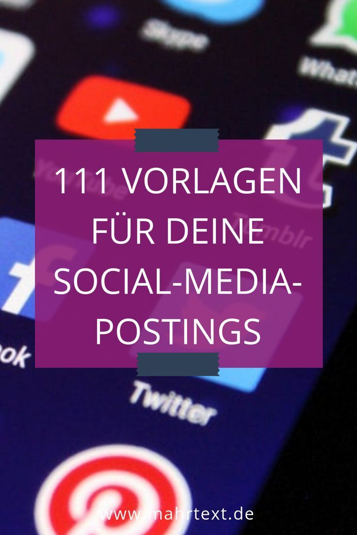 Hol dir 21 Vorlagen für deine Postings auf Facebook, Instagram