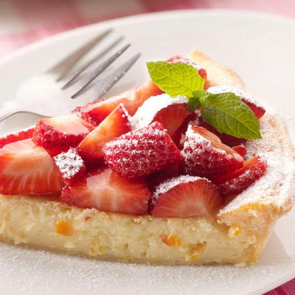 Veja esta de Receita de Tarte de Ricota, Laranja e Morangos. Esta e outras deliciosas receitas no site de nestlé Cozinhar.