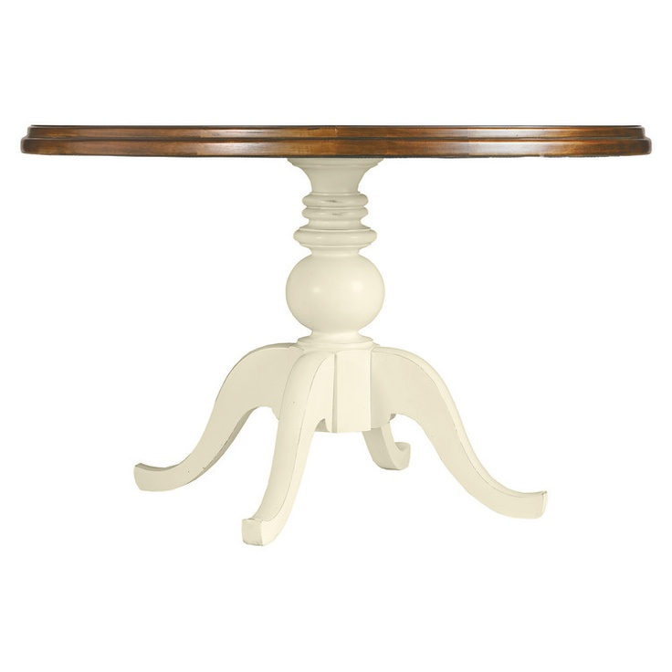 Stanley Furniture Coastal Living Round Pedestal Table 48 Dia Boardwalk Top Shell 1685
