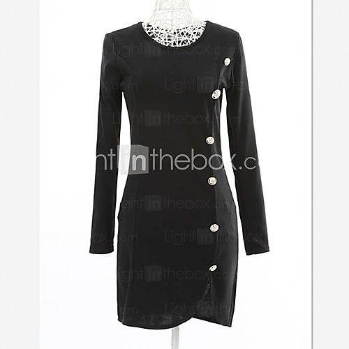 koreaanse nieuw uitgerust met lange mouwen jurk | LightInTheBox