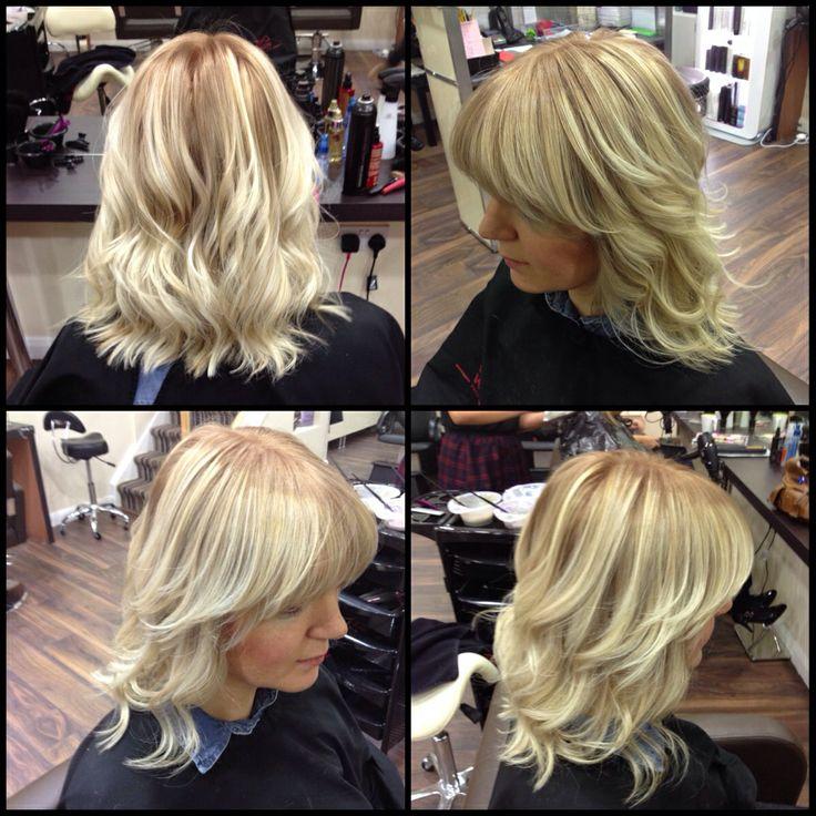 Ombr 233 Balayage Blonde Waves Shoulder Length Bob