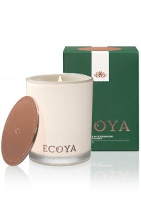 Ecoya Double Vanilla and Cedarwood Limited Edition Madison Jar Candle