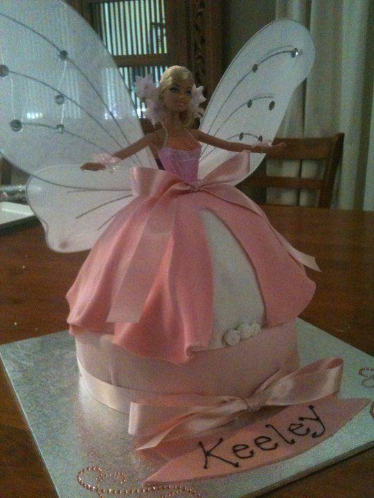 Best 25 Barbie Fairy Cake Ideas Only On Pinterest