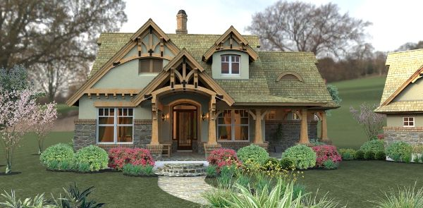 This 1.5 story Craftsman features 2913 sq feet. Call us at 866-214-2242 to talk to a House Plan Specialist about your future dream home!