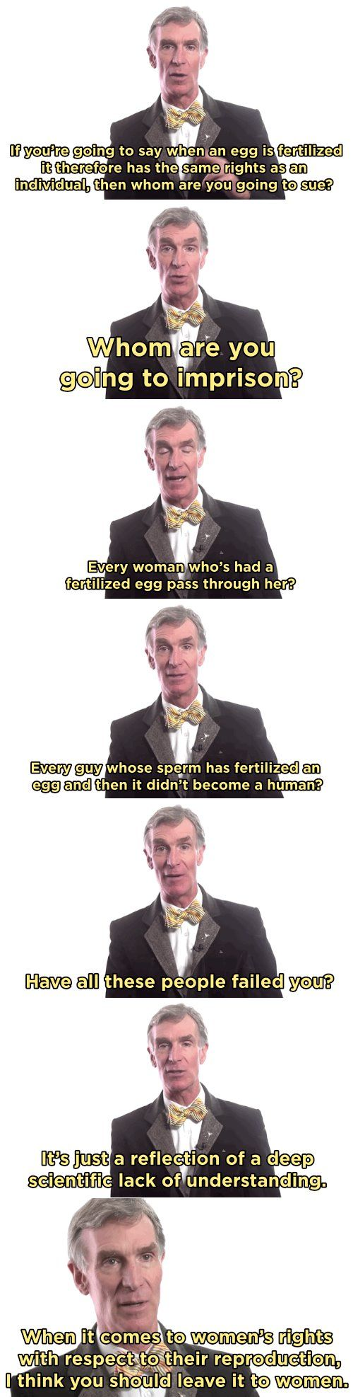 Bill Nye Debunks Anti-Abortion Logic With Science