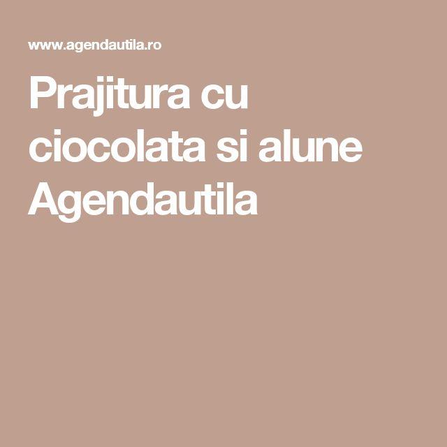 Prajitura cu ciocolata si alune Agendautila