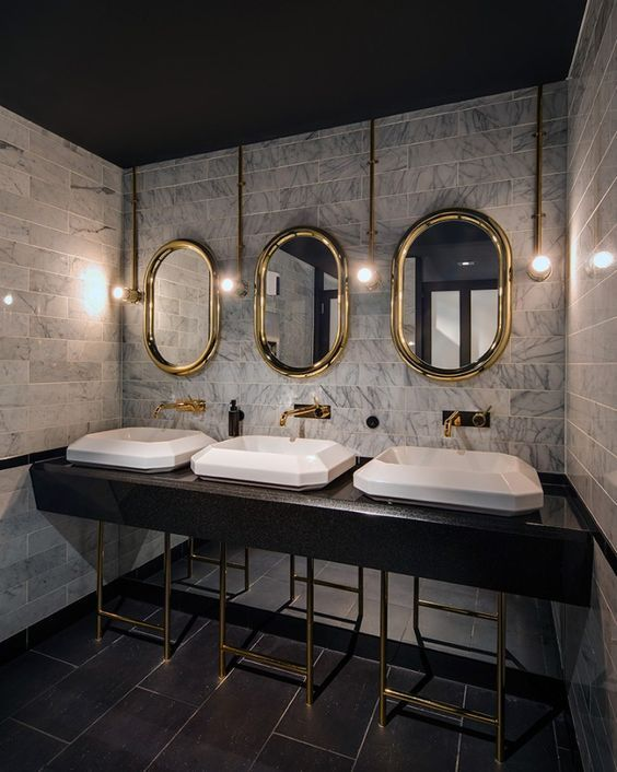 Gallery of Inspiration - Astra Walker - glamour natural stone, gold fittings.:
