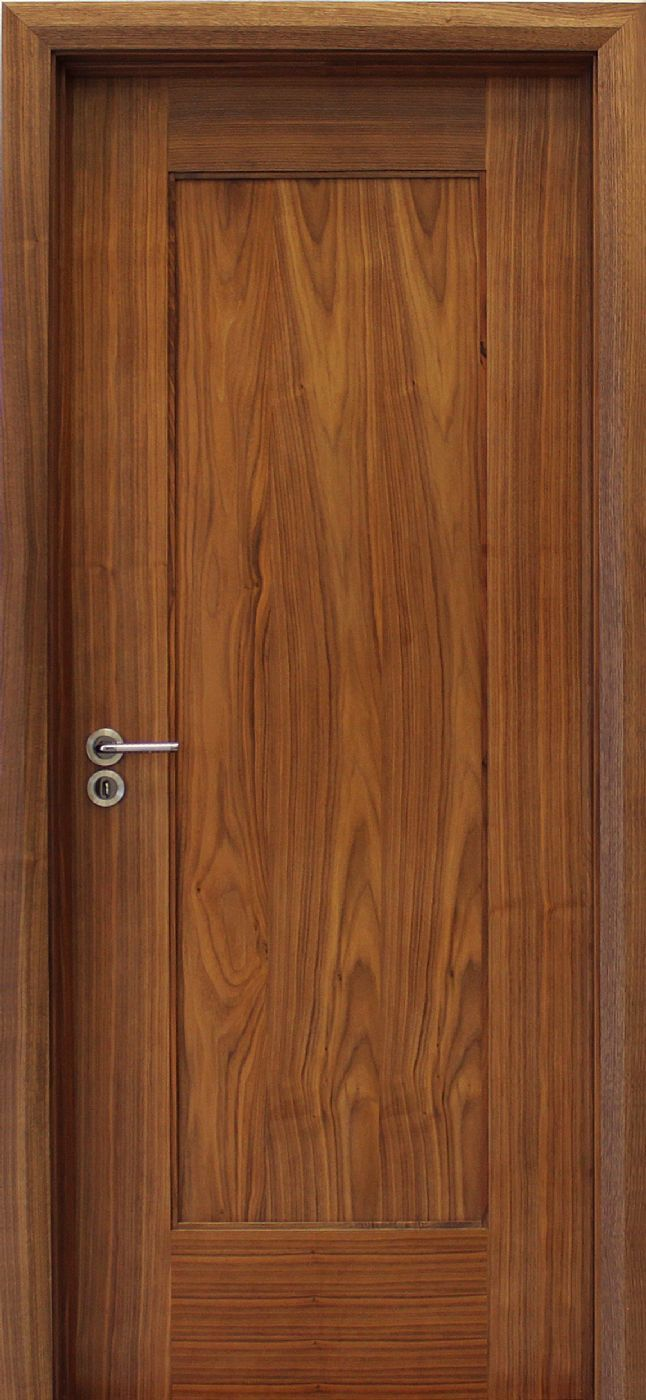 Shaker 1 Panel Walnut Door (40mm) | Internal Doors | Walnut Doors - door store £116