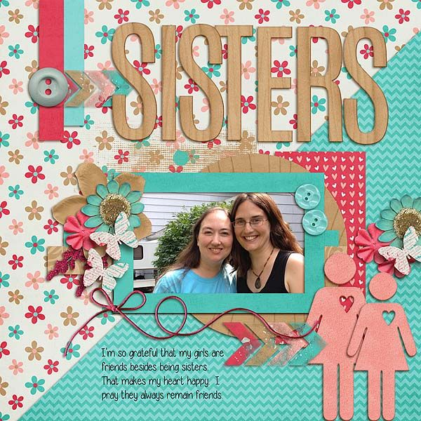 Sisters - Scrapbook.com- Digital layout