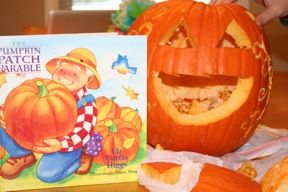 All you need to use a pumpkin to share the Gospel!  Great Christian object lesson!