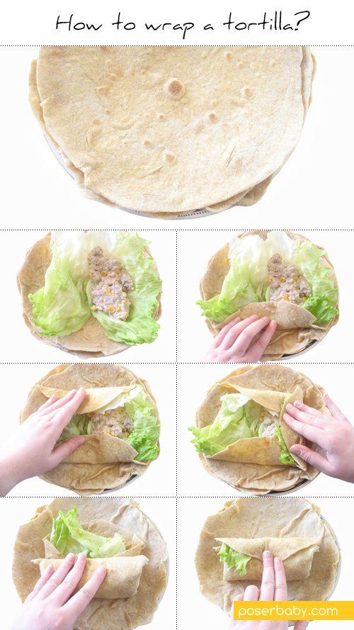 How to wrap a tortilla sandwich wrap