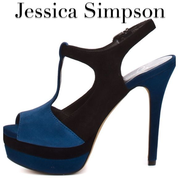 Jessica Simpson two toned heels! Royal blue and black suede! Worn once for a pageant! Jessica Simpson Shoes Heels