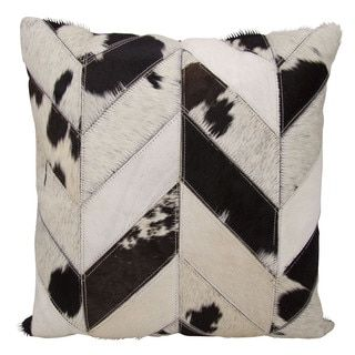 Shop for Mina Victory Dallas Cow Print Chevron Black/White Throw Pillow (20-inch x 20-inch) by Nourison. Get free shipping at Overstock.com - Your Online Home Decor Outlet Store! Get 5% in rewards with Club O!