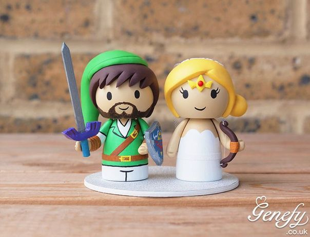Gorgeous Geeky Wedding Cake Toppers - Legend of Zelda Wedding Cake Topper - Genefy Playground