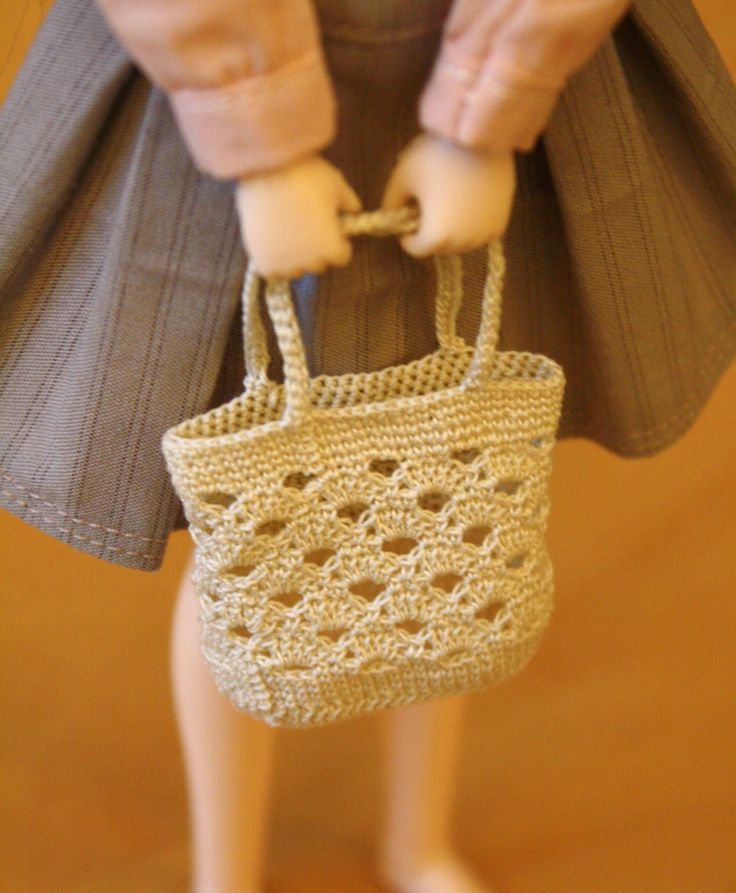 Small bjd's crocheted bag