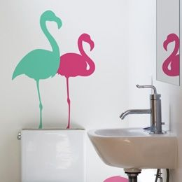 17 Best Images About Palm Springs Flamingo Bathroom On Pinterest Bathrooms Decor Vinyls And