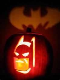 carved batman pumpkins