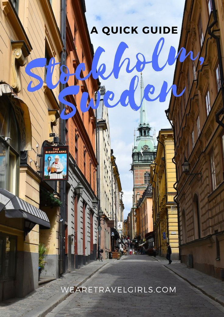 A QUICK GUIDE TO STOCKHOLM, SWEDEN! Stockholm, is in my opinion, one of the coolest cities in Europe. Located on Sweden's east coast this capital city is famous for its great restaurants, fun nightlife and beautiful people. And like the people, the city of Stockholm is also stunning. This Baltic Sea archipelago boasts 14 islands and more than 50 bridges! With a population of roughly 910,000, Stockholm is the most populous city in the Nordic countries. But the magical architecture of Gamla…